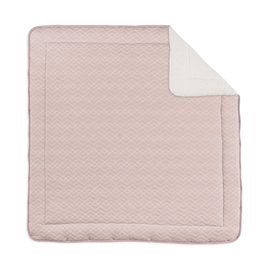 Alfombra de parque Pady quilted jersey + jersey 100x100cm OSAKA Rosa vieja