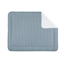 Padded play mat Pady quilted jersey + jersey 75x95cm OSAKA Mineral blue