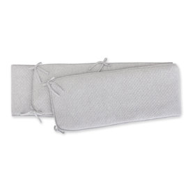 Playpen bumper Pady quilted jersey 100x100x28cm BEMINI Grey marled