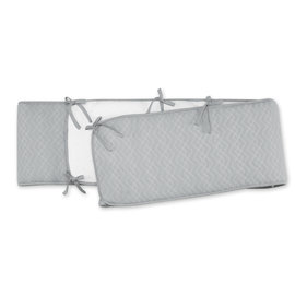 Protector de parque Pady quilted jersey + jersey 100x100x28cm OSAKA Gris medio