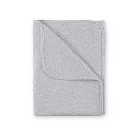 Blanket Quilted jersey 75x100cm BEMINI Grey marled