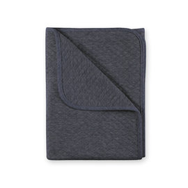 Blanket Quilted jersey 75x100cm BEMINI Charcoal grey marled