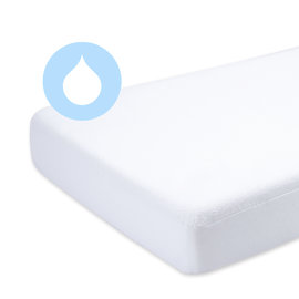 Playpen mattress protector   Terry + enduction 75x100cm  White